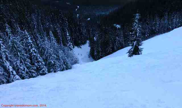 backside steep terrain silver star bc