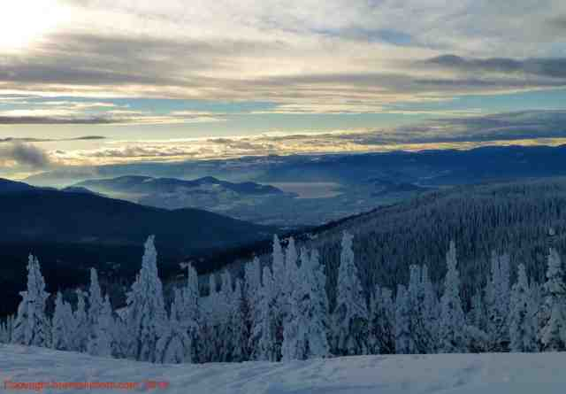 view of Okanagan Valley from silver star, bc