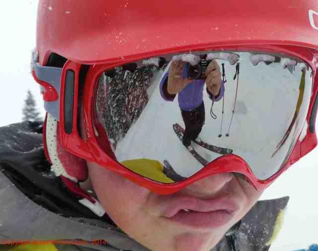 skiing with teens