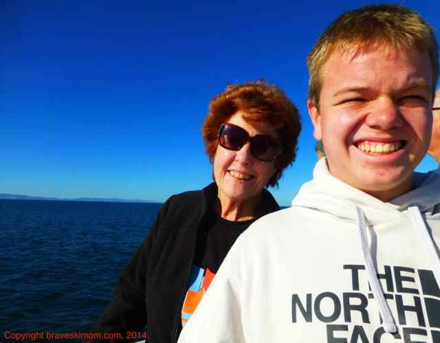 sea kayaking grandparents
