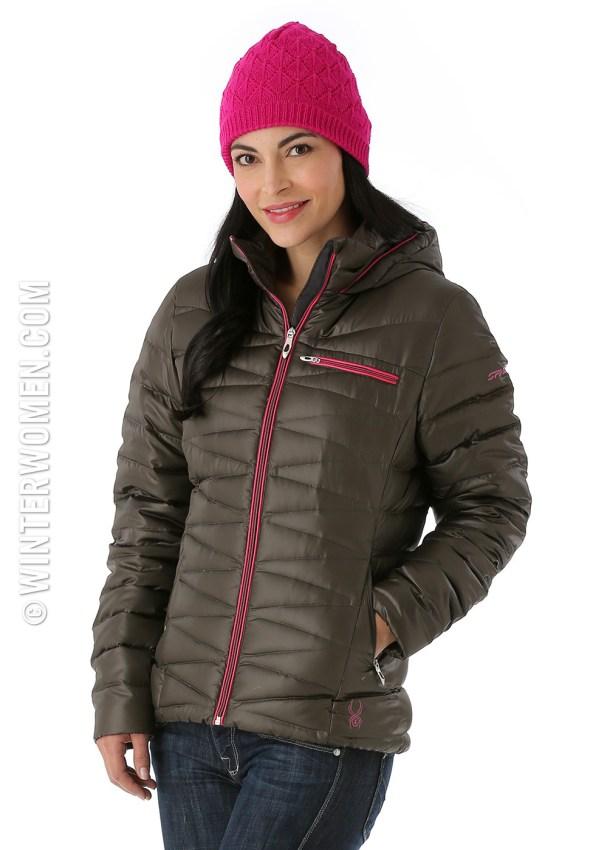2014 2015 ski fashion spyder down hoody