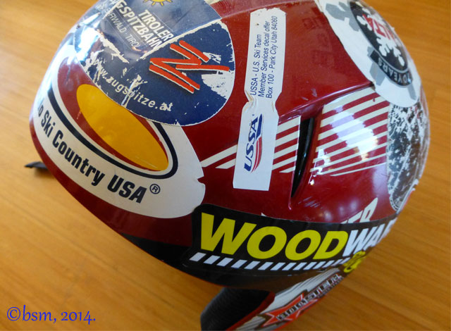 ski helmet sticker love