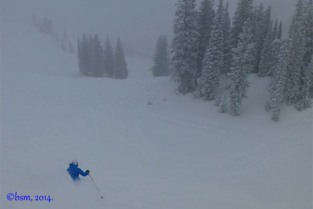 alta powder skiing