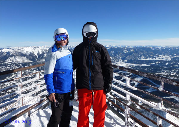top of lone mountain big sky montana