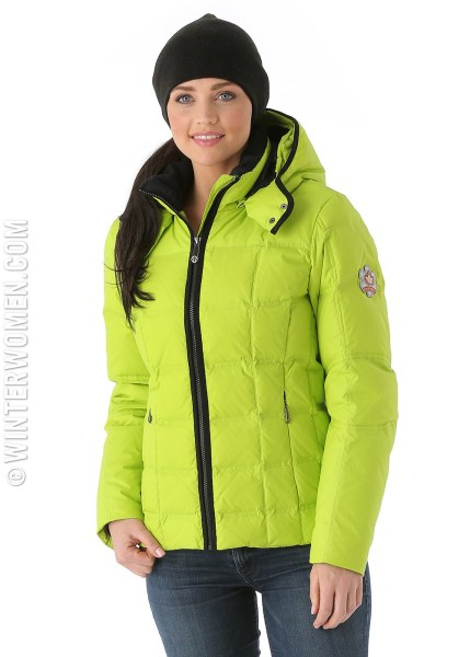 Sunice Kristi Down Short Jacket in Limestone.