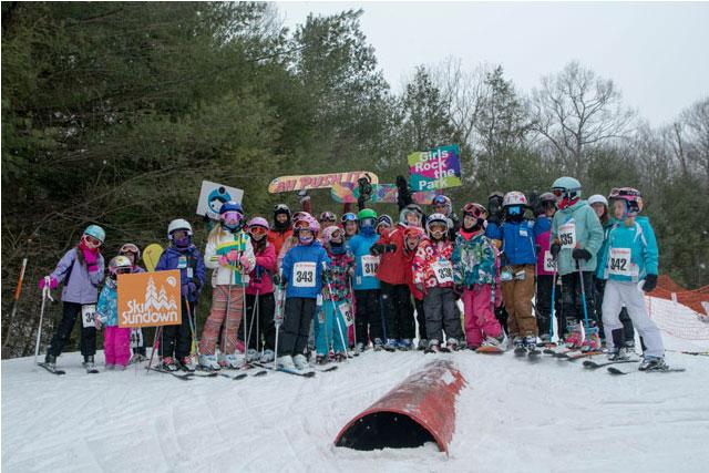 girls rock the park ski sundown