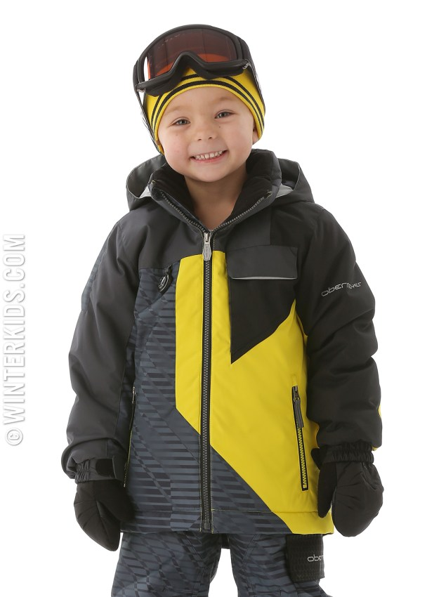 obermeyer ambush jacket in cyber yellow