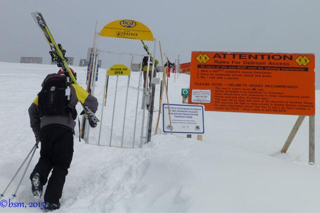 delirium dive ski sunshine village