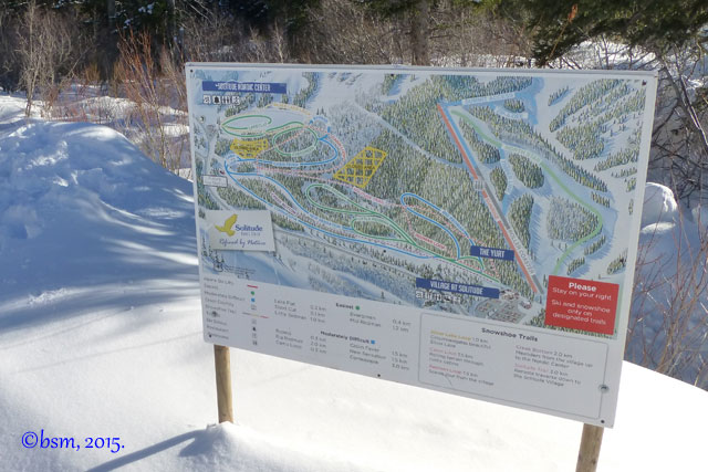 solitude nordic ski snowshoe map