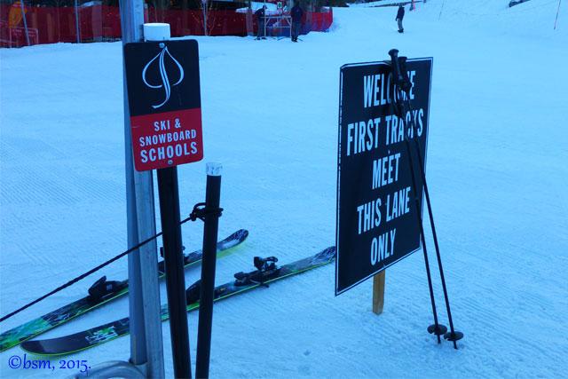 first tracks snowmass