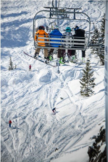 powder mountain skiing