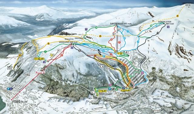 ski map voss