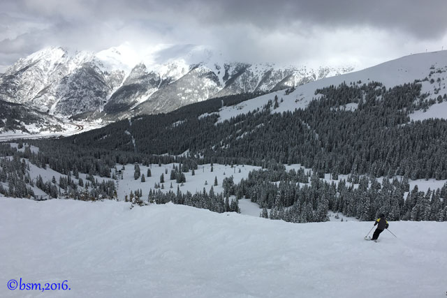 skiing connects with nature