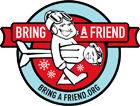 bring a friend skiing logo