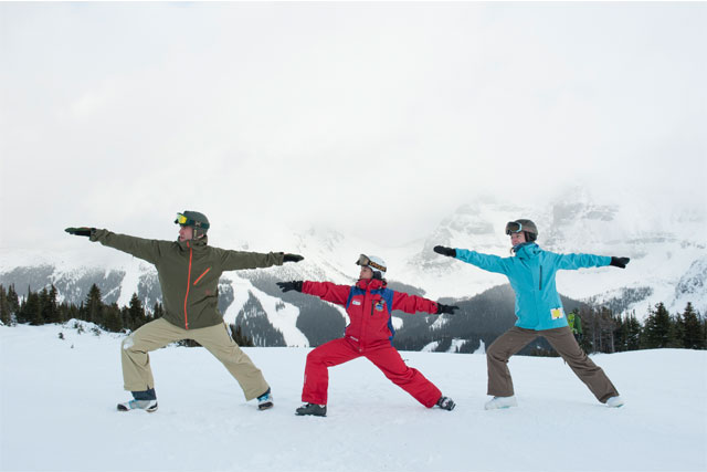 sunshine village yoga for skiers