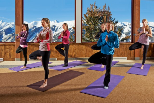 yoga for skiers at Aspen