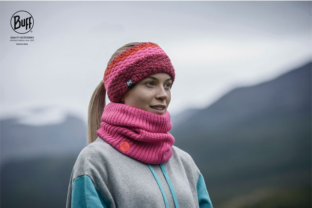 Knit scarves and headbands from BuffUSA.
