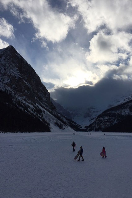 fun on lake louise