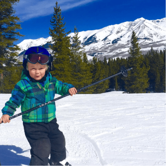 skiing with little kids crested butte