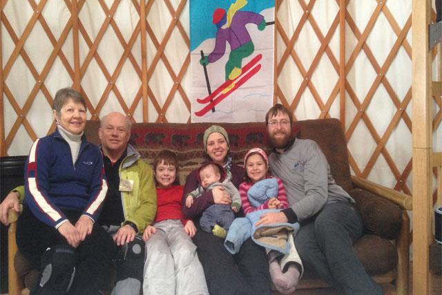 family skiing michigan