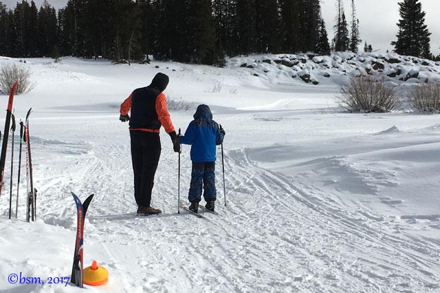 family xc skiing
