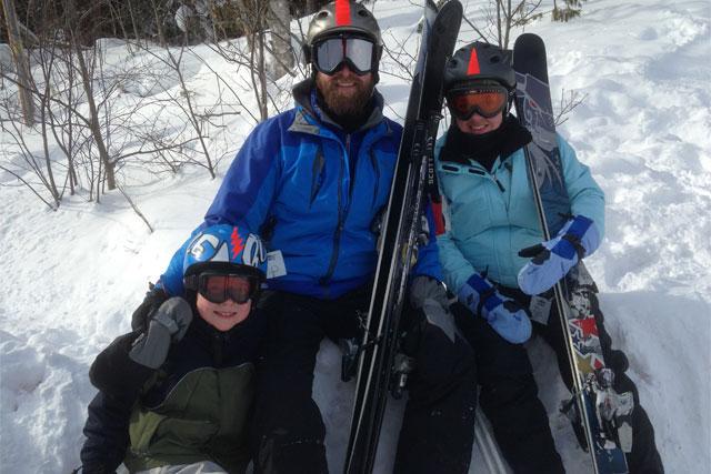 mt bohemia family skiing