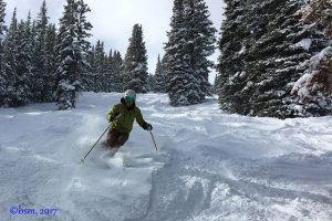 copper mountain powder day