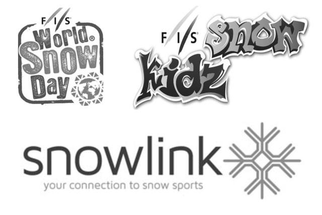 logos of world snow day snowkidz and snowblink