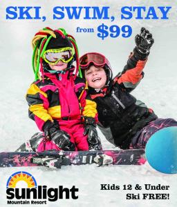 affordable family skiing, lodging and swimming at sunlight mountain resort