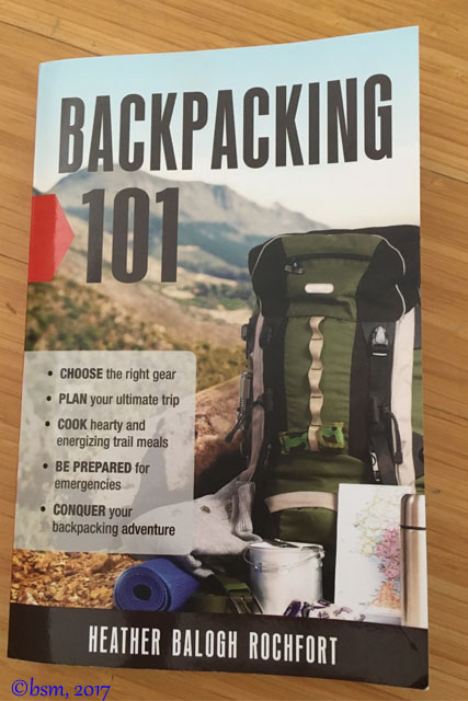 the cover of backpacking 101 by heather balogh rochfort