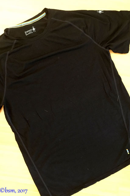 black smart wool 150 t shirt