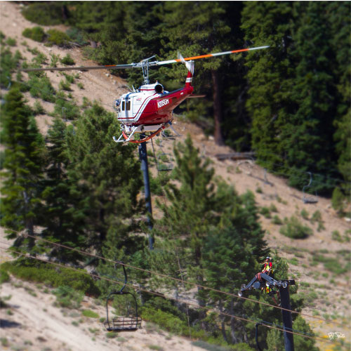 snow valley installs a new high speed six passenger chairlift