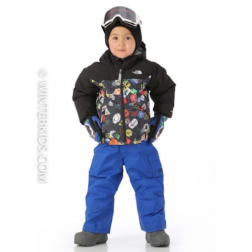 The North Face Brayden Jacket for Toddler Boys Black Bomdiggity Print