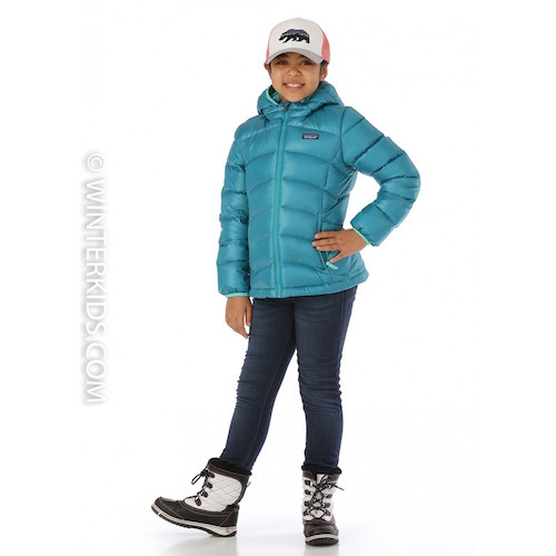 Patagonia Girls Hi-Loft Down Jacket in Elwha Blue