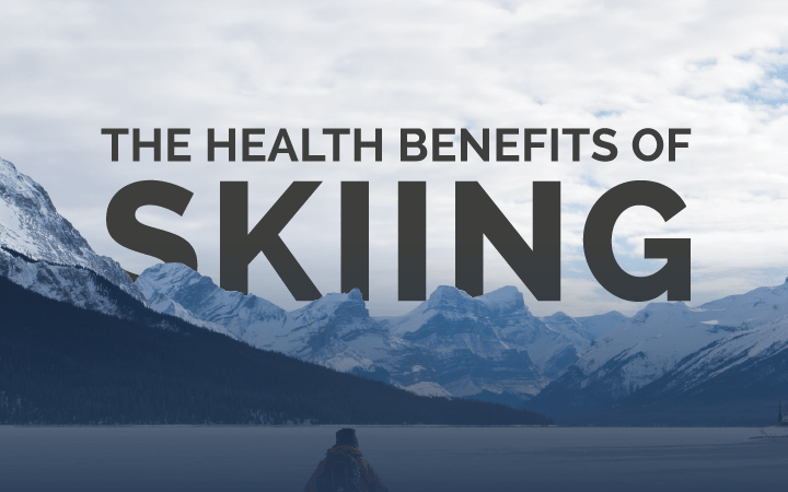 infographic showing the health benefits of skiing flyerdiaries.com