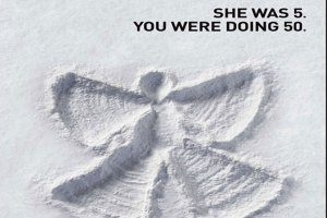 #rideanotherday campaign snow angel