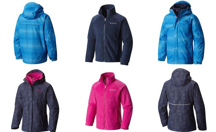 winter kids columbia bugaboo interchange jacket