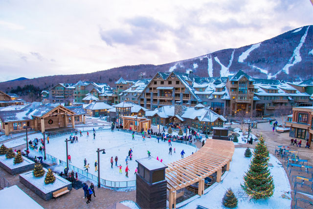 stowe mountain lodge and ice rink