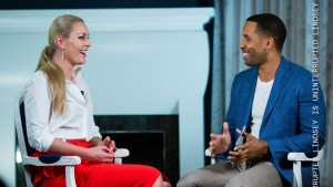 Kneading dough interview with Lindsey Vonn on UNINTERRUPTED