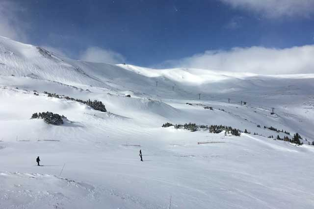 off piste and bowl skiing at loveland ski area