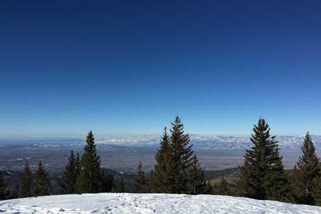 beautiful blue new mexico sky at ski santa fe