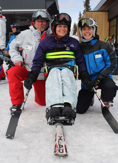 adaptive skiing with challenge aspen