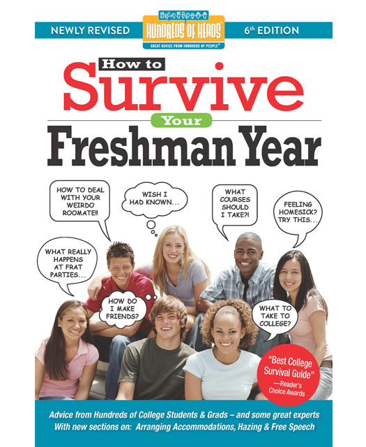 the cover of the book How to Survive Your Freshman Year a guide for new college students