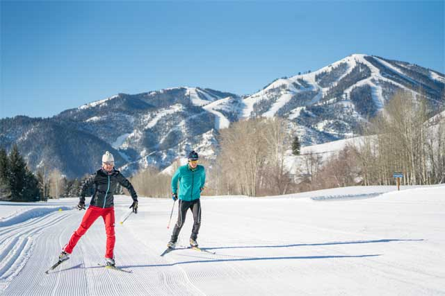 Cross country skiing Sun Valley Idaho