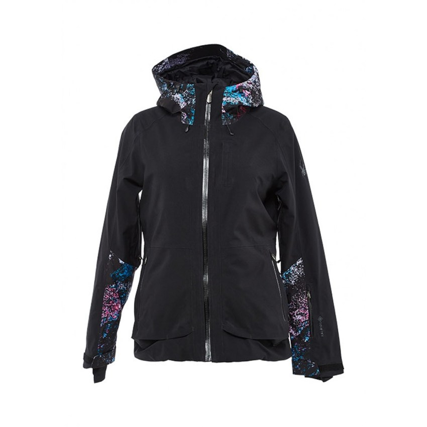 Need a ski fashion refresh? Check out the Spyder Balance Gore-Tex Jacket for Women in black.