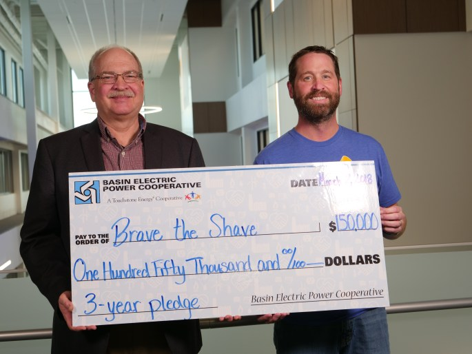 Basin Electric, Brave the Shave check presentation