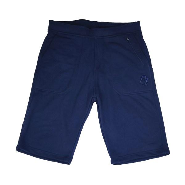 Navy Blue Fleece Shorts by Bravura