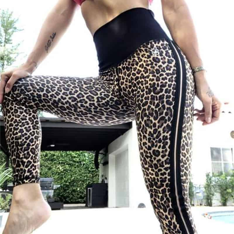 e0eb22896b31e Workout Leggings | Leopard High Waist Push Up Pants - Brawny Line