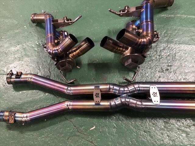 フェラーリ カリフォルニア チタンマフラー修理