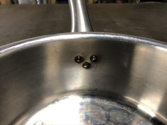 ステンレス片手鍋 修理